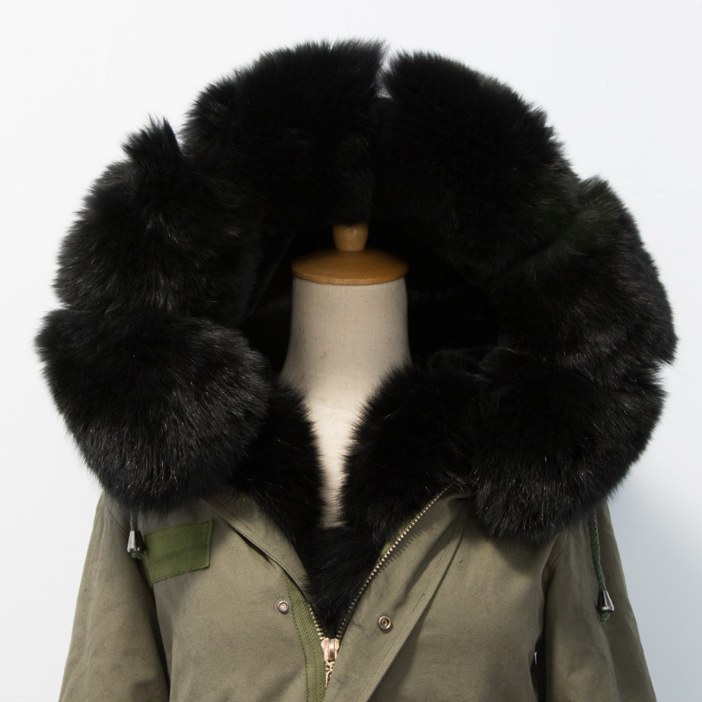 2015 russion women fashion fox fur parka for ladys P16