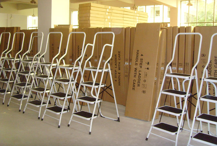 3 Step Steel Step Stool Ladder Step Ladders 3 Tread Strong