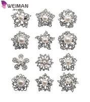 12px Pearl cheap brooches in bulk