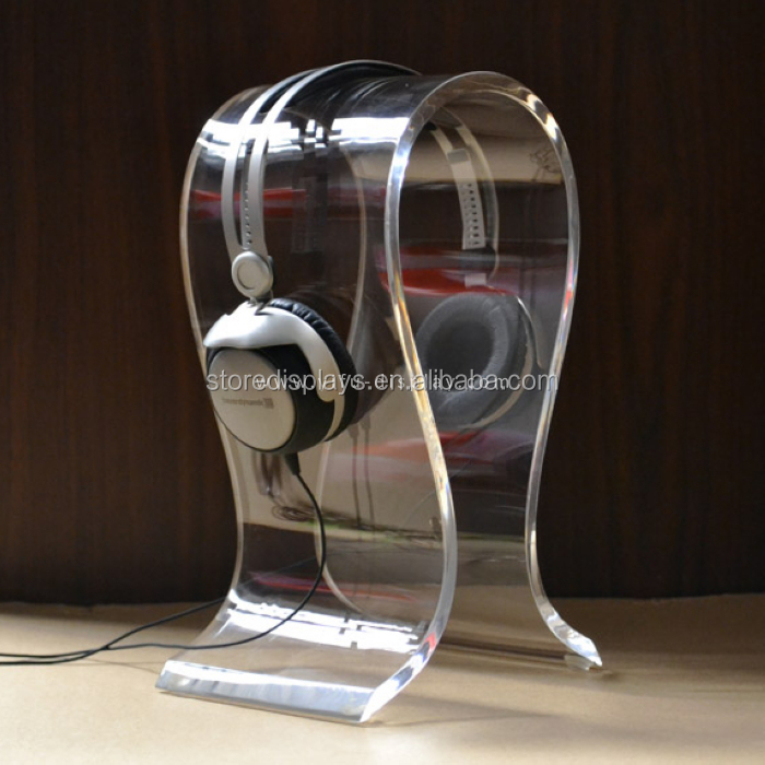 Wholesale Acrylic Headset Display Stand, Headphone Display Stand