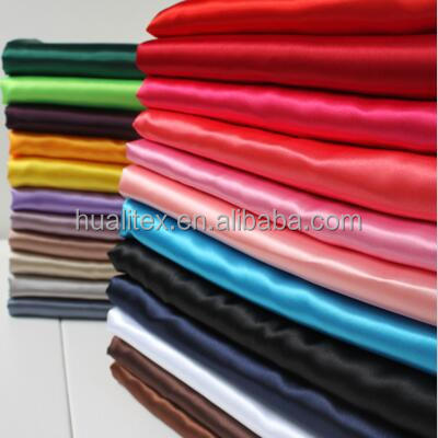 100% polyester stretch satin fabric