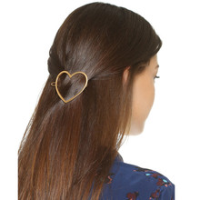 Wholesale China Factory Supply Gold Heart Shaped Plain Hairpin For Hair