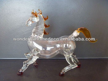 150ml/500ml 750ml art glass wine bottle horse/goat/bull design