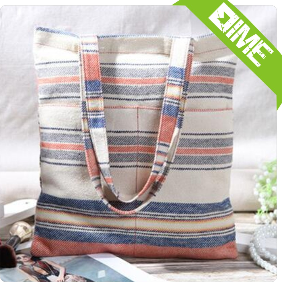 Handmade Cotton Linen Eco Reusable Shopping Shoulder Bag Tote