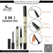 2016 OEM Cosmetic Makeup Popular 3 in 1 3D Eye Shadow Eyebrow Dye Eyebrow Powder Private Label Eyebrow Pencils