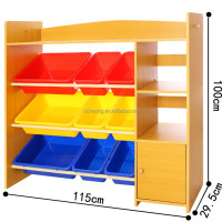 Natural Dinish Wooden Child Toy Storage
