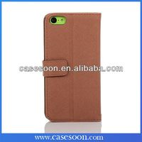 Book Style High Quality Leather Wallet Case for iphone 5c Cover ,For iPhone 5C Card Holder Phone Case