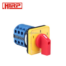 LW26-20 1-0-2 3P Yellow-Red Type Electrical Changeover Switch 3 Position 3 Phase Silver Contact Rotary Cam Universal Switch TUV