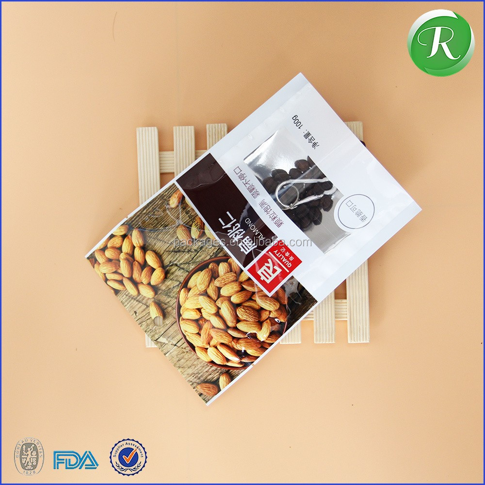 Alibaba supplier manufacturing metalic food packaging zipper bag for cookies