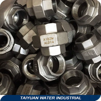 1 inch threaded union rubber joint water compression fittings