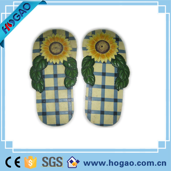 Handmade new production 2016 Custom foot shoes shaped resin garden foot stepping stone