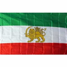 Custom 80gsm 100d polyester 3'x5' iranian lion flags