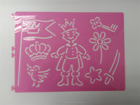 china Custom accepted PVC plastic stencils for children drawing