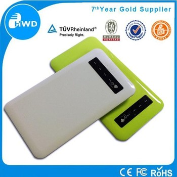 mini light slim credit card portable 4000mAh real capacity touch screen power bank