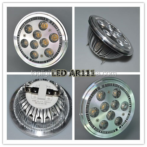 100-277V internal driver IP20 LED spot light 3w 5w 9W LED GU10 AR111 lamp