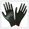 SAFETY 13 gauge knitted nylon coated black nitrile gloves/working nitrile gloves/safety working gloves