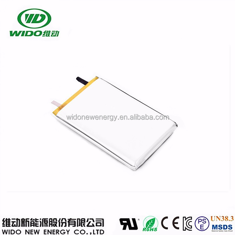 WIDO rechargeable lithium battery 3.7v 2000mah 505068 lithium polymer battery for power banks gps