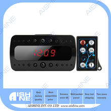 Car Dvr Alarm Security products for home Covert video HD black clock night vision hidden camera