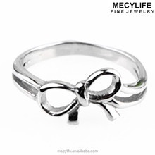 MECYLIFE Cute Stainless Steel Ring Small Fresh Heart to heart Ring