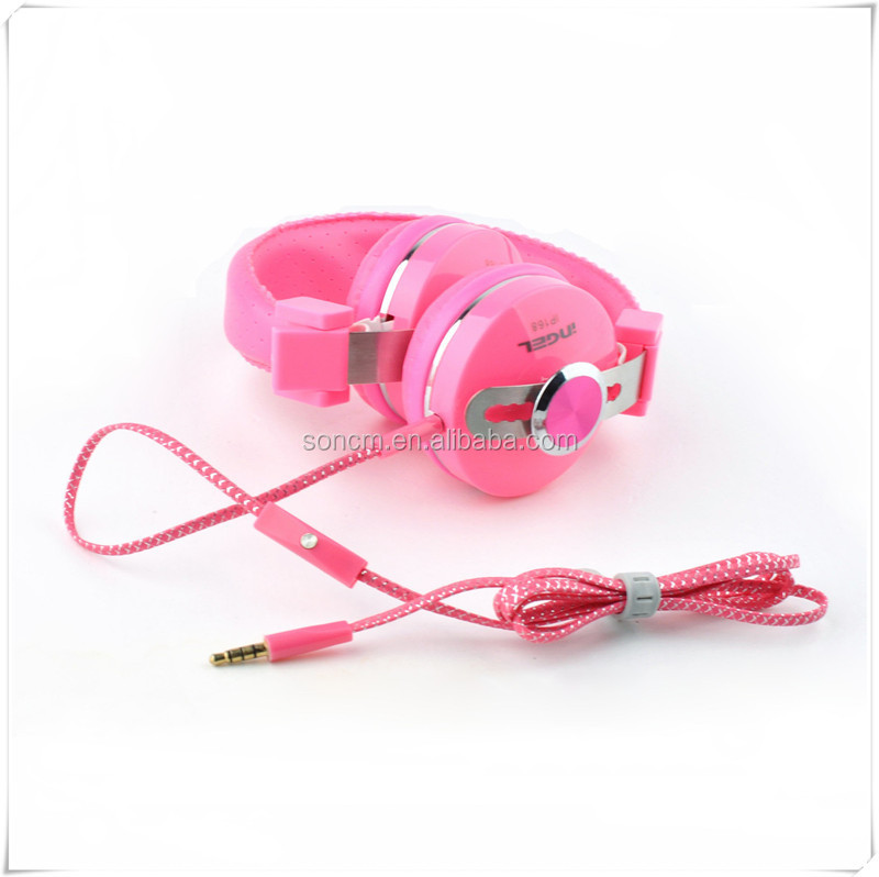 Promotion items: High quality bass earphone & headphone with mic and colorful(yellow & black) for gift