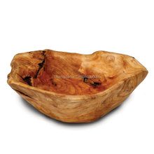 Shan Mu Tree Root Natural Sharp And Color Hand Carved Wooden Bowl Salad Bowl