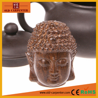 Tranditional Buddha Head 4*3.5*5cm best selling 3D wood craft