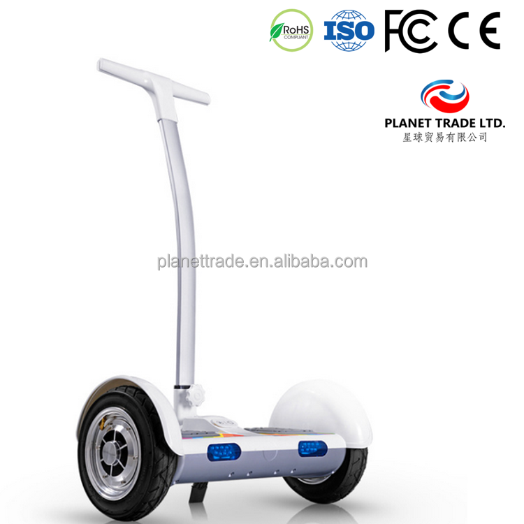 10 inch Self-Balance Two Wheel smart electric car for countryside with big tire Samsung battery White