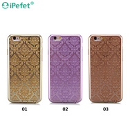 Elegant Royal Flower Soft Flexible TPU Back Cell Phone Case Cover For iPhone 6/s With Dust Plug