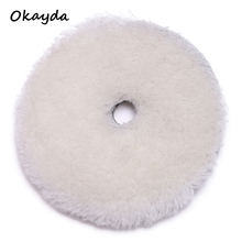 Customized wool car polishing pad sheepskin buffing pad