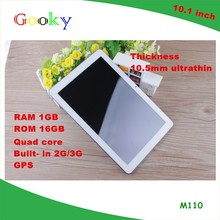 10 Inch Quad Core IPS 1280*800 3G Call 16GB Ultra Slim g g touch screen smart 3g city call 10.1 tablet digitizer