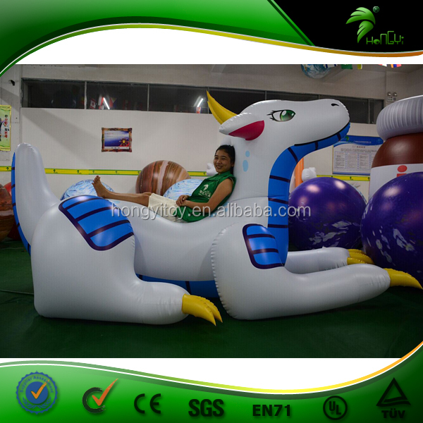 Customize Inflatable Blue And White Ayru Dragon WIth PVC Material