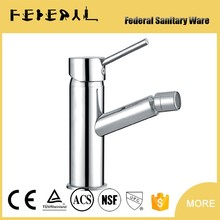 Chrome Palting Desk Mounted single Lever Brass Bidet Faucets