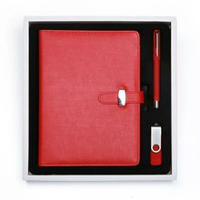 travel stationery set wholesale school supplie notebook pen USB flash drive gift set