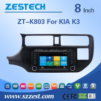 Wince system car spare parts for Kia Rio/K3/Pride autoradio car stereo with A8 chispet 800*480 digital touch screen GPS Radio BT