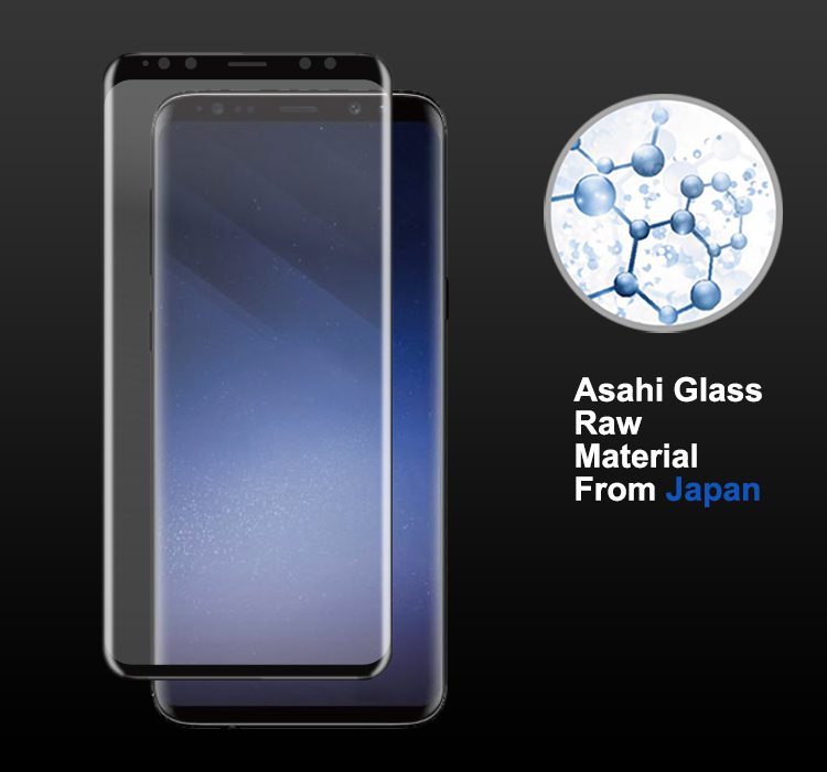 Case friendly 3D curved s9 screen protector, tempered glass screen protector for samsung galaxy s9