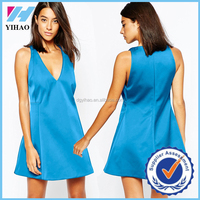 wholesale plus size dress royal blue color sexy dress clothes women