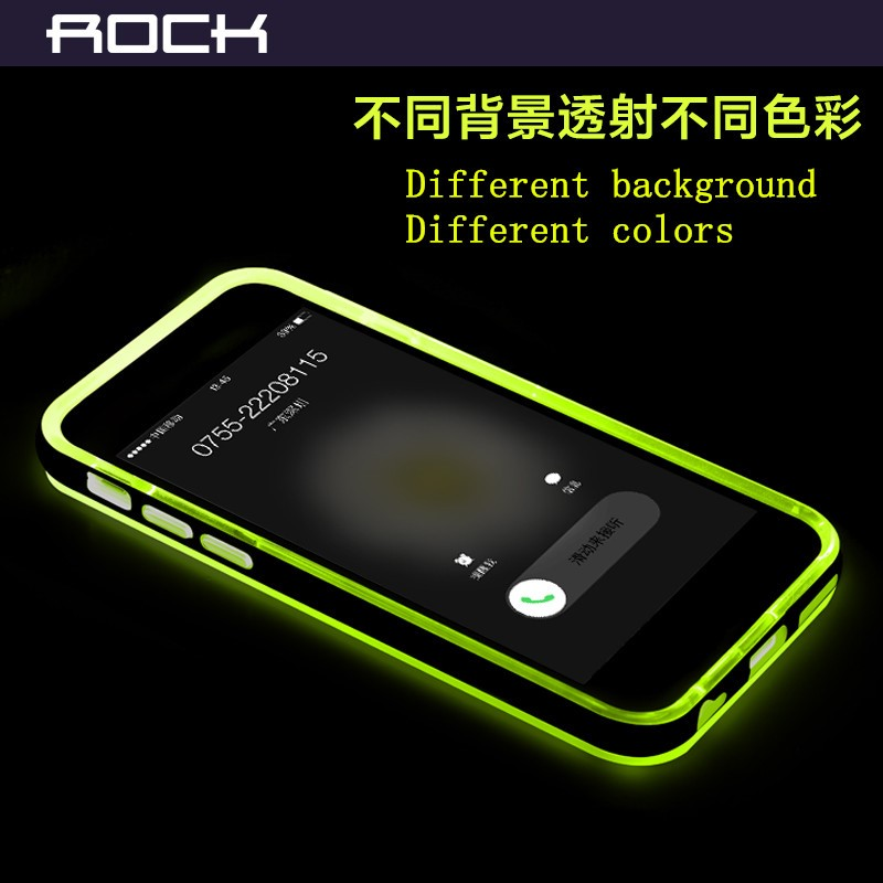 ROCK Colorful Calls Flash Light Plastic Bumper Cases for iPhone 6 case 5s 6s 6plus 6splus mobile covers
