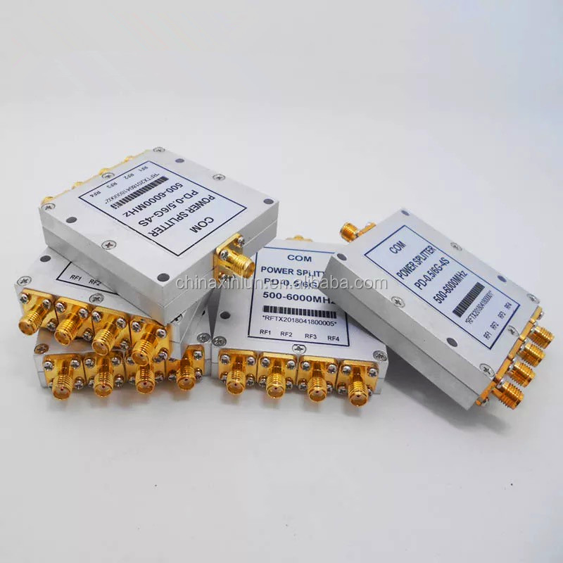 0.5~6GHz 4 way Power Divider/Splitter with SMA female connectors
