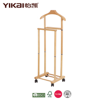 Movable coat stand with 4 wheels and a big shoulder hanger