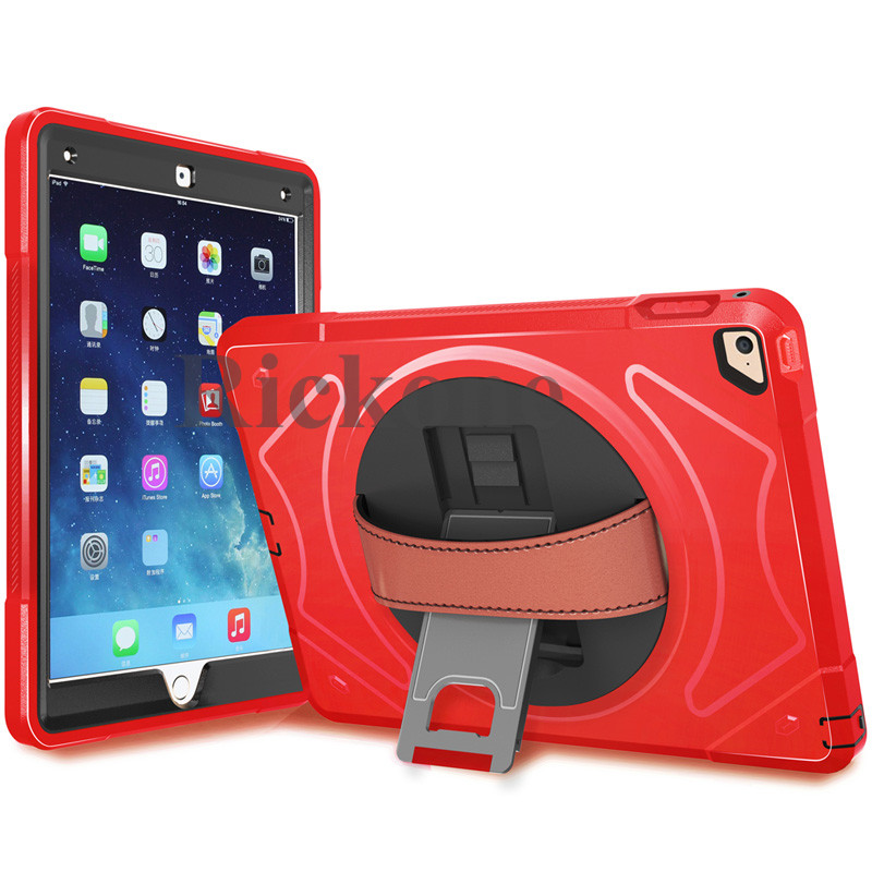 2017 New Case for <strong>Ipad</strong> with Built-in Stand, Screen Protector and Leather Hand Strap