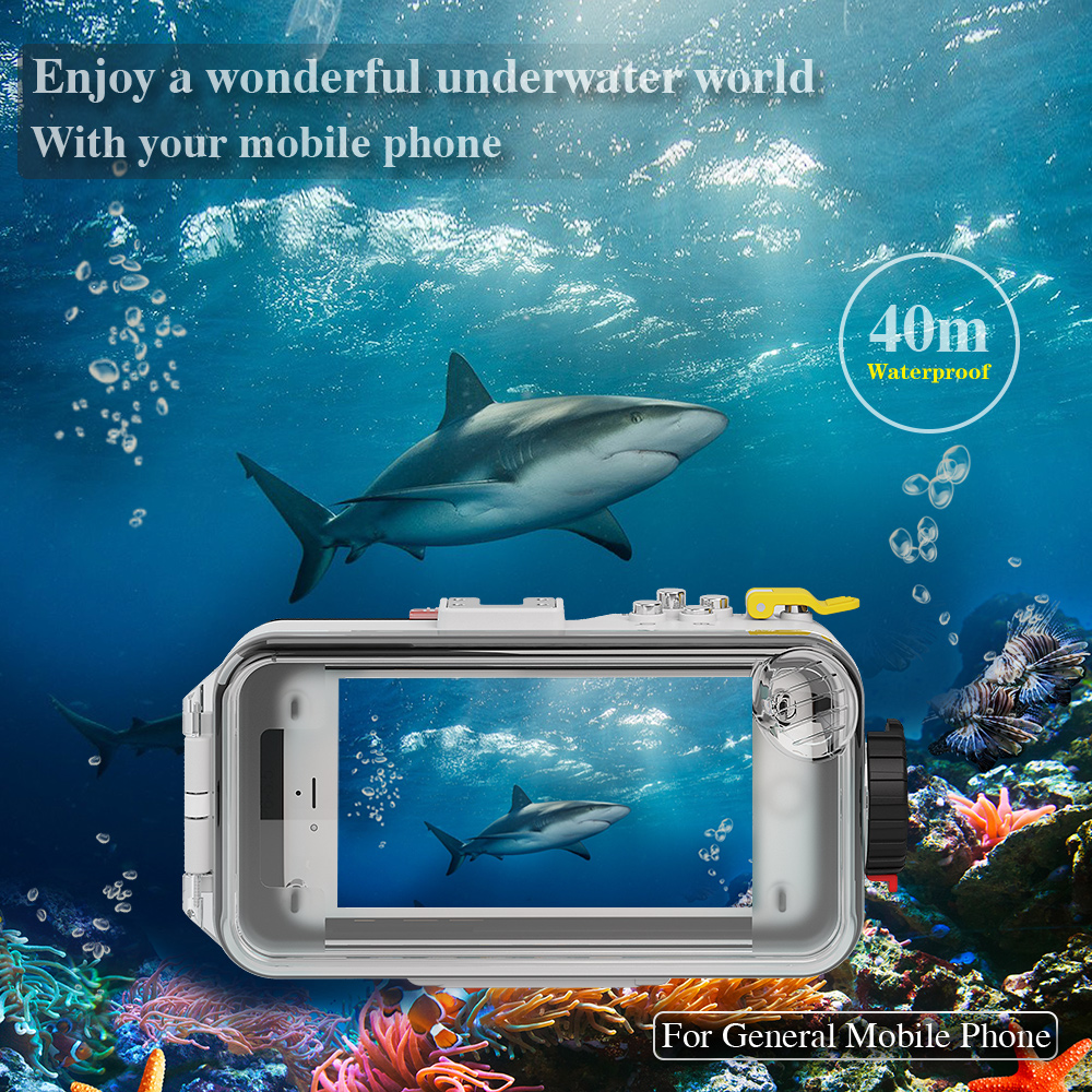 Meikon smartphone waterproof case deepest waterproof rating case for Samsung Galaxy S5 up to 40M/130ft