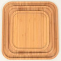 bamboo food fruit tray round bamboo plate