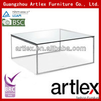modern glass top tea table