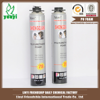 Construction PU foam spray/silicone sealant