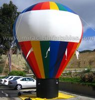 Giant inflatable rainbow balloon,inflatable ground balloon for promotion,party C3001