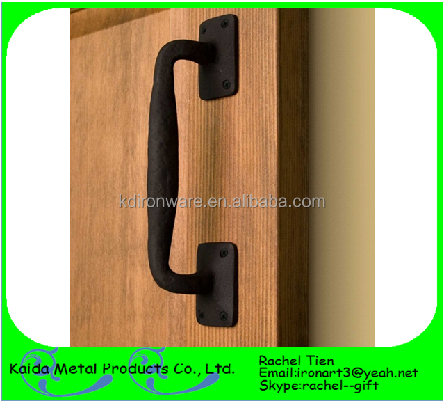high quality black cast iron pull handles knobs decorative wooden door