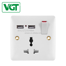 VGT Good quality Africa British Standard usb wall socket