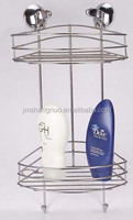 2 layer Bathroom Wire Rack with Suction Cups