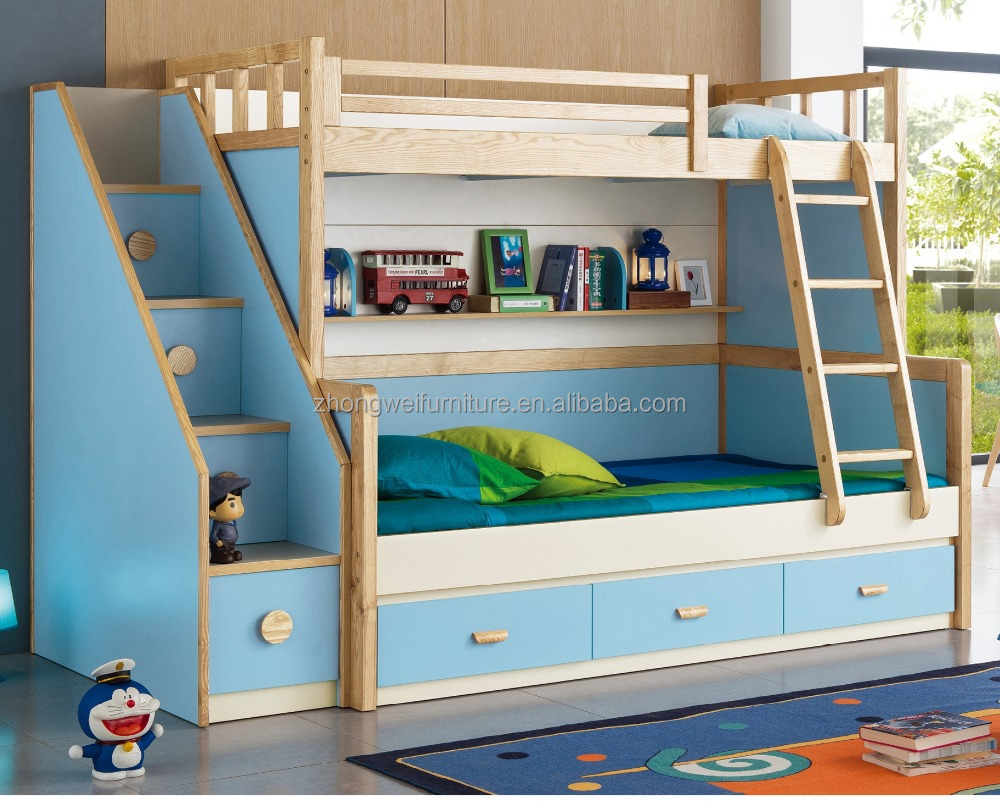 Cheap kids bunk bed kids bunk beds with cars painting buy cheap bunk beds toddler bunk beds - Double deck bed designs for small spaces pict ...