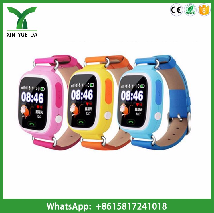 2017 fancy watches for child q90 kids gps watch touch screen